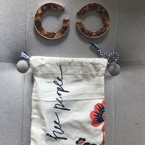 Free people hoop earrings